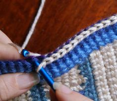 How to Join Crochet Squares Together With Slip Stitch ❥ 4U // hf
