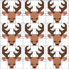 Sew Fresh Quilts: Santa's Reindeer Blocks for 100 Blocks Magazine