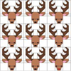 Sew Fresh Quilts: Santa's Reindeer Blocks for 100 Blocks Magazine