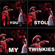 Don't take Erik's twinkies. His childhood was bad enough. XD