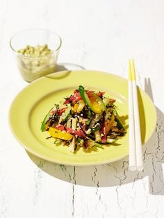 【ELLE a table】はと麦とひじきの和え物 キウイソース添えレシピ エル・オンライン