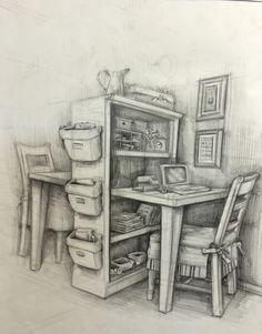 interior drawing,pen drawing,object,chairs,çizim,karakalem