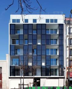 """The agency Philippon-Kalt just delivered, opposite the station Barbès, the first building of social housing in Paris with a facade solar panels."