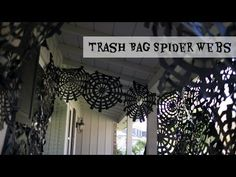 Turn trash (bags) into Halloween decorations with these simple garbage bag spiderwebs. Plaster the front of your house with spiderwebs to let the trick or tr...