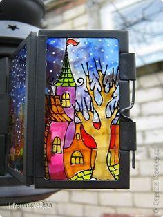 Поделка изделие День рождения Новый год Рисование и живопись Волшебный фонарь из Ikea Краска Стекло фото 5
