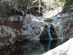 Switzer Falls in California hiking trail