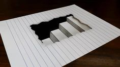Support me on Patreon: https://www.patreon.com/tattoowoo How to draw 3D steps in line paper. Easy trick art for kids. Materials used: 110lb cardstock, HB pen...