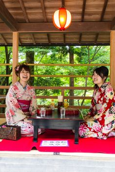 Girls at Lunch in Kyoto, Japan
