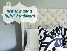 DIY Tufted Headboard Using Screws (plus Nailhead Trim.)