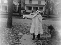 creepy vintage Halloween 1950's skull vintage halloween