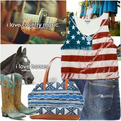 """""""Yep."""" by margaretrhiana on Polyvore featuring the Lane Dawson cowboy boots. Happy almost 4th of July!"""