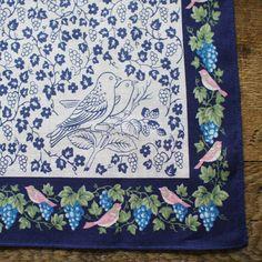 Yonagadou Handkerchief {Blue Bird}