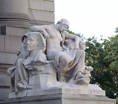 "Daniel Chester French ""Africa"" statue in front of the Alexander Hamiton U.S. Customs House, New York, New York"