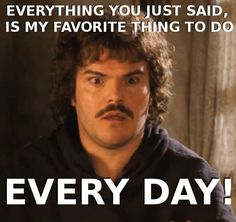 Most memorable quotes from Nacho Libre , a movie based on Film. Find important Nacho Libre quotes from the film. Nacho Libre quotes funny from dance, fight sceens and stretching. these quotes about life funny nacho. Tv Quotes, Movie Quotes, Funny Quotes, Party Quotes, Funny Movies, Good Movies, Iconic Movies, I Love To Laugh, Make Me Smile