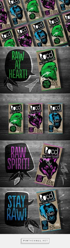 Rocc! Raw Organic Chocolate concept by Tibor Hegedues - http://www.packagingoftheworld.com/2017/08/rocc-raw-organic-chocolate-concept.html