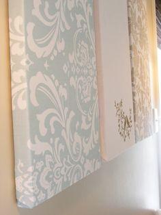 DIY Wall Panels using Styrofoam insulation panels and fabric