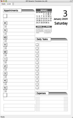 Diy Planner Templates  Day Like The CircleADate Aspect Of The