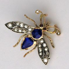 VICTORIAN SAPPHIRE AND DIAMOND BEE                                                                                                                                                                                 More