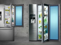 Samsung has released Samsung Food ShowCase range of 7 side-by-side and French door models with door -in-door features. Compare them here: http://refrigeratorboss.com/compare-samsung-food-showcase-refrigerator-range/