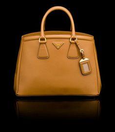 Prada handbag... love this beautiful dark caramel color.