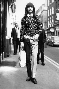 Photo by renown documentary photographer ©Harold Chapman. Two Tone Trousers, Carnaby Street, London England circa 1967