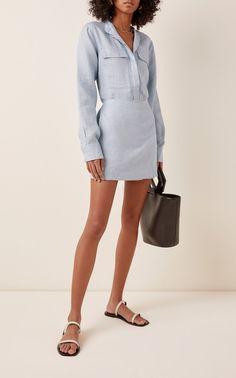 Utility Linen Mini Dress by Bondi Born Yuri, Event Dresses, Ladies Dress Design, Spring Summer Fashion, Dress Outfits, Fashion Outfits, Ideias Fashion, Latest Trends, Shirt Dress
