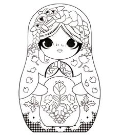 babushka coloring pages - photo#13