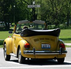 Convertible Yellow VW ♥♥♥