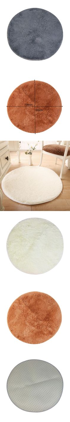 Fashion Round Carpet Thicken Shaggy Rug Living Room Bedroom Floor Mat 1M Fitness Yoga Soft Silk Mats Door Mat tapete alfombra-NF