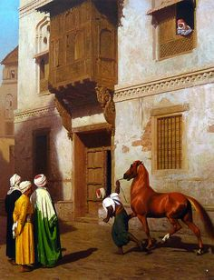 Jean-Léon Gérôme. Vendedor de caballos en El Cairo (c. 1867)