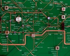 japanese designer yuri suzuki - his 'london underground circuit maps' project developed  as part of the designers in residence program at the london design museum, on show until january 13th, 2013.