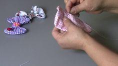 Laço de tecido facil e rapido -Fabric lace
