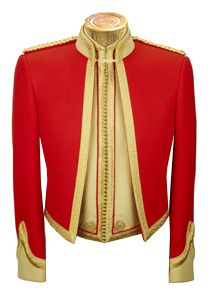 British Royal Scots Dragoon Guards (Carabiniers and Greys) Officers Mess Dress - G.D Golding Military Dresses, Military Style Jackets, Military Jacket, Military Inspired Fashion, Military Fashion, Indian Men Fashion, Mens Fashion, Army Uniform, Military Uniforms