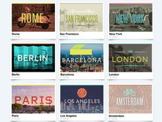 Next places to visit: San Francisco, Barcelona, London, Los Angeles and Amsterdam...which one first?