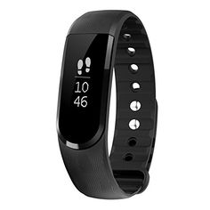 Smart Fitness Tracker LETSCOM Wireless Bluetooth 40 Activity Pedometer and Health Sleep Monitor Calorie Counter OLED Touch Screen Waterproof Super Band for Android and IOS Black -- You can get additional details at the image link.