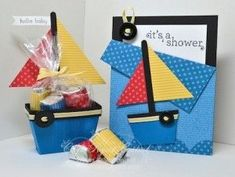 Sailboat Party Favor and Pocket Card