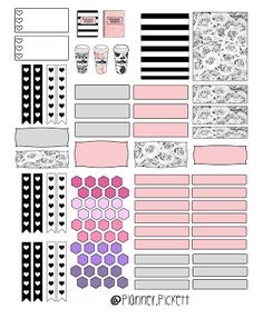 To Do Planner, Free Planner, Planner Pages, Happy Planner, Pink Planner, Printable Planner Stickers, Free Printables, Planner Supplies, Planner Organization