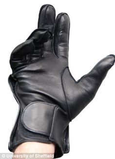 The glove is completely mobile and has an inbuilt computer that produces spoken words or phrases