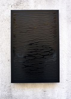 """""""Negro sobre Negro″ by Rosh333 now available in our online store - Esmalte sobre lienzo - 40×60cm - Ask for price: shop@iamgallerymadrid.com"""