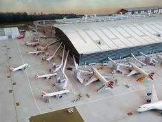A Superb Model Airport made mostly from Herpa and
