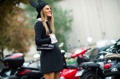 Hat <3 Street Style from Paris Fashion Week Spring 2014 -