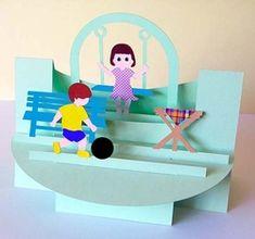 Playground Shelf Card on Craftsuprint - View Now!