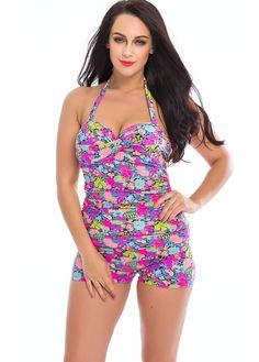 f5f84a54459 One Piece Swimsuit Plus Size Swimwear Pants Halter Top Monokini Swimming  Suit For Women Bodysuit Bathing Suit Beach Wear