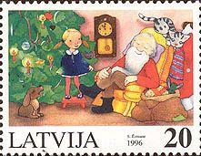 Latvian Christmas stamp