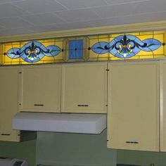 Stained Glass Above Cabinet Panel   Stained Glass Kitchen Cabinet Designs  For Your Kitchen