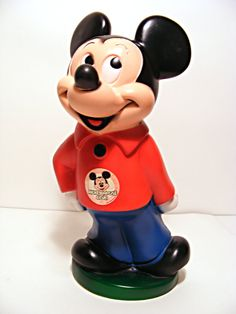 Vintage Mickey Mouse Bank. I have had this for about 35 years. Still keep my pennies in it.