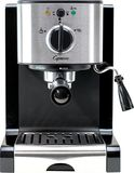 Capresso - EC100 Espresso Maker/Coffeemaker - Black/stainless steel (Black/Silver)