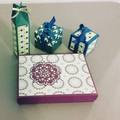 Variety of boxes made with Eastern Palace products from Stampin Up