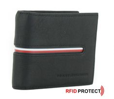 Tommy Hilfiger, Mini, Wallet, Pocket Wallet, Money, Branding, Leather, Black, Purses