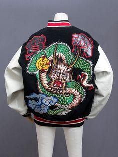 Kansai Yamamoto (山本寛斎) embroidered dragon stadium jacket. This is a Kansai  Man 8b37e41b4856